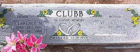 CLUBB, VELDA G. - Pinal County, Arizona | VELDA G. CLUBB - Arizona Gravestone Photos