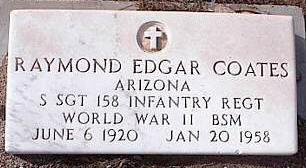 COATES, RAYMOND EDGAR - Pinal County, Arizona | RAYMOND EDGAR COATES - Arizona Gravestone Photos