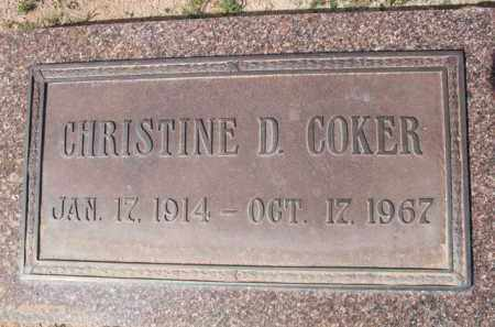 COKER, CHRISTINE D. - Pinal County, Arizona | CHRISTINE D. COKER - Arizona Gravestone Photos
