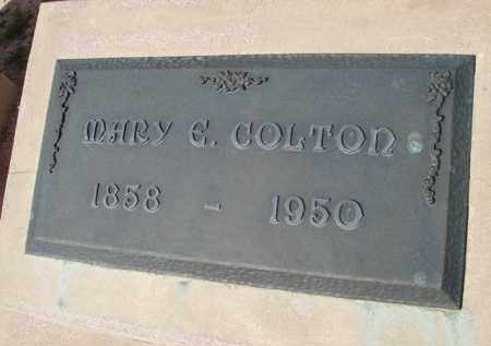 COLTON, MARY E. - Pinal County, Arizona | MARY E. COLTON - Arizona Gravestone Photos