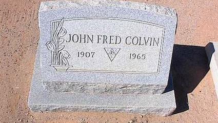 COLVIN, JOHN FRED - Pinal County, Arizona | JOHN FRED COLVIN - Arizona Gravestone Photos