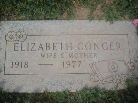 CONGER, ELIZABETH - Pinal County, Arizona | ELIZABETH CONGER - Arizona Gravestone Photos