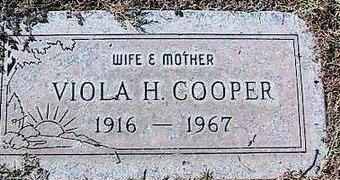 COOPER, VIOLA H. - Pinal County, Arizona   VIOLA H. COOPER - Arizona Gravestone Photos