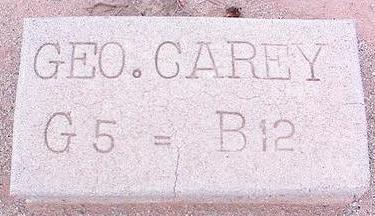 CAREY, GEO. - Pinal County, Arizona | GEO. CAREY - Arizona Gravestone Photos