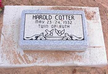 COTTER, HAROLD - Pinal County, Arizona | HAROLD COTTER - Arizona Gravestone Photos