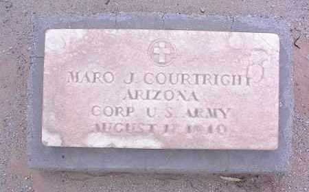 COURTRIGHT, MARO JOHNSON - Pinal County, Arizona | MARO JOHNSON COURTRIGHT - Arizona Gravestone Photos