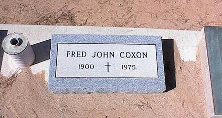 COXON, FRED JOHN - Pinal County, Arizona | FRED JOHN COXON - Arizona Gravestone Photos