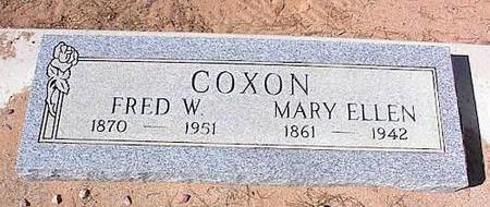 COXON, FRED W - Pinal County, Arizona | FRED W COXON - Arizona Gravestone Photos