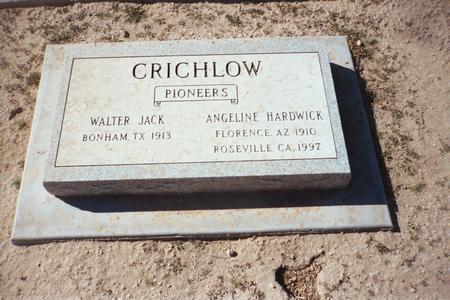 CRICHLOW, WALTER JACK - Pinal County, Arizona | WALTER JACK CRICHLOW - Arizona Gravestone Photos