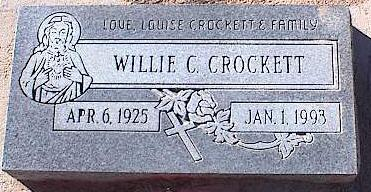 CROCKETT, WILLIE C. - Pinal County, Arizona | WILLIE C. CROCKETT - Arizona Gravestone Photos