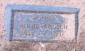 CROUCH, ANNIE - Pinal County, Arizona   ANNIE CROUCH - Arizona Gravestone Photos