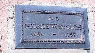 CROUCH, GEORGE W. - Pinal County, Arizona   GEORGE W. CROUCH - Arizona Gravestone Photos