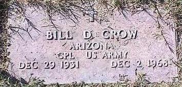 CROW, BILL D. - Pinal County, Arizona | BILL D. CROW - Arizona Gravestone Photos