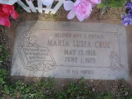 CRUZ, MARIA LUSIA - Pinal County, Arizona | MARIA LUSIA CRUZ - Arizona Gravestone Photos