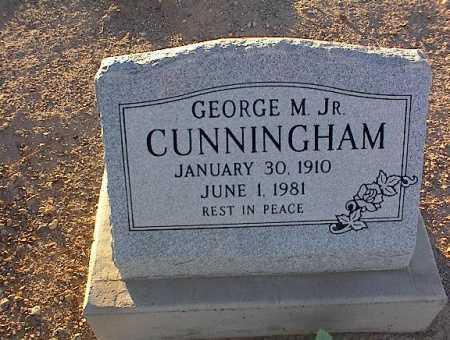 CUNNINGHAM, GEORGE M., JR. - Pinal County, Arizona   GEORGE M., JR. CUNNINGHAM - Arizona Gravestone Photos