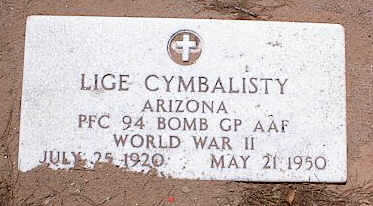 CYMBALISTY, LIGE - Pinal County, Arizona   LIGE CYMBALISTY - Arizona Gravestone Photos