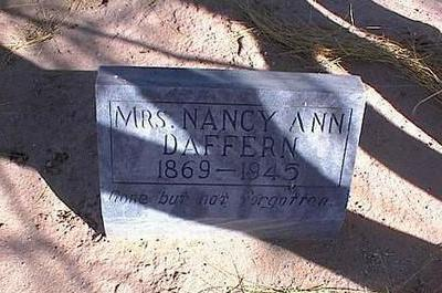 DAFFERN, NANCY ANN, MRS. - Pinal County, Arizona | NANCY ANN, MRS. DAFFERN - Arizona Gravestone Photos