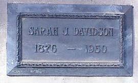 SAMBOURN DAVIDSON, SARAH JANE - Pinal County, Arizona | SARAH JANE SAMBOURN DAVIDSON - Arizona Gravestone Photos
