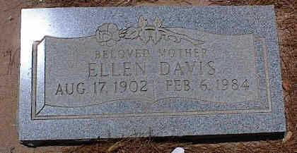 DAVIS, ELLEN - Pinal County, Arizona | ELLEN DAVIS - Arizona Gravestone Photos