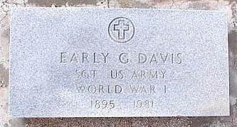 DAVIS, EARLY G. - Pinal County, Arizona | EARLY G. DAVIS - Arizona Gravestone Photos