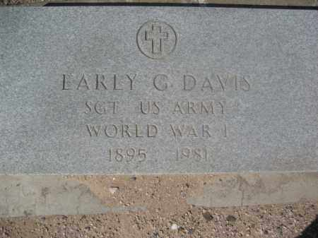 DAVIS, EARLY G. - Pinal County, Arizona | EARLY G. DAVIS - Arizona Gravestone Photos