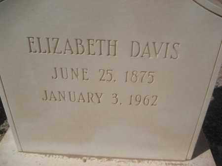 DAVIS, ELIZABETH - Pinal County, Arizona   ELIZABETH DAVIS - Arizona Gravestone Photos