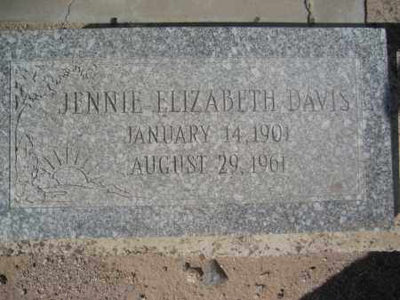 DAVIS, JENNIE ELIZABETH - Pinal County, Arizona | JENNIE ELIZABETH DAVIS - Arizona Gravestone Photos