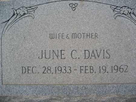 DAVIS, JUNE C. - Pinal County, Arizona   JUNE C. DAVIS - Arizona Gravestone Photos