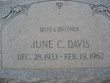 DAVIS, JUNE C. - Pinal County, Arizona | JUNE C. DAVIS - Arizona Gravestone Photos