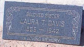 TROTTER DAVIS, LAURA T. - Pinal County, Arizona | LAURA T. TROTTER DAVIS - Arizona Gravestone Photos
