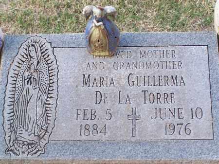 GUILLERMA DE LA TORRE, MARIA - Pinal County, Arizona | MARIA GUILLERMA DE LA TORRE - Arizona Gravestone Photos