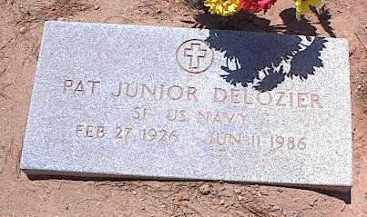 DELOZIER, PAT JUNIOR - Pinal County, Arizona | PAT JUNIOR DELOZIER - Arizona Gravestone Photos
