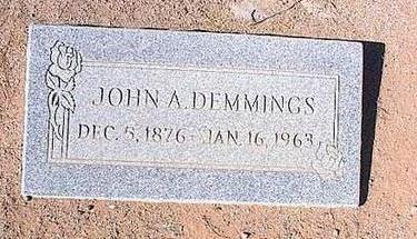 DEMMINGS, JOHN A. - Pinal County, Arizona | JOHN A. DEMMINGS - Arizona Gravestone Photos