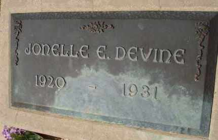 DEVINE, JONELLE E. - Pinal County, Arizona | JONELLE E. DEVINE - Arizona Gravestone Photos