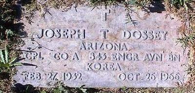 DOSSEY, JOSEPH T. - Pinal County, Arizona   JOSEPH T. DOSSEY - Arizona Gravestone Photos