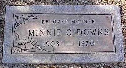DOWNS, MINNIE O. - Pinal County, Arizona | MINNIE O. DOWNS - Arizona Gravestone Photos