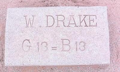 DRAKE, W. - Pinal County, Arizona | W. DRAKE - Arizona Gravestone Photos