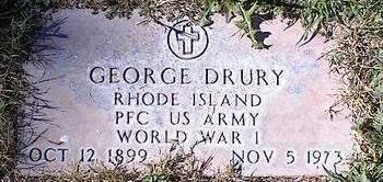 DRURY, GEORGE - Pinal County, Arizona   GEORGE DRURY - Arizona Gravestone Photos