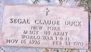 DUCK, SEGAL CLAUDE - Pinal County, Arizona | SEGAL CLAUDE DUCK - Arizona Gravestone Photos