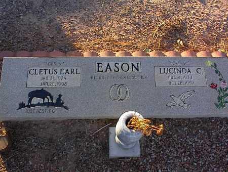 EASON, LUCINDA C. - Pinal County, Arizona | LUCINDA C. EASON - Arizona Gravestone Photos