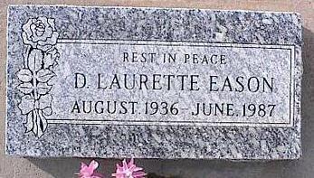 EASON, D. LAURETTE - Pinal County, Arizona | D. LAURETTE EASON - Arizona Gravestone Photos