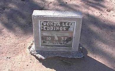 EDDING, WONDA LEE - Pinal County, Arizona | WONDA LEE EDDING - Arizona Gravestone Photos