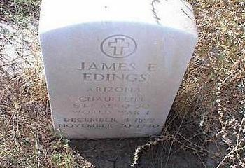EDINGS, JAMES E. - Pinal County, Arizona | JAMES E. EDINGS - Arizona Gravestone Photos