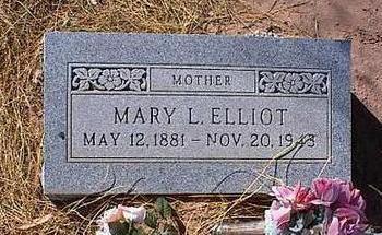 ELLIOT, MARY L. - Pinal County, Arizona   MARY L. ELLIOT - Arizona Gravestone Photos