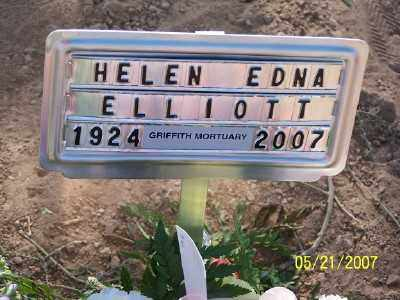 ELLIOTT, HELEN EDNA - Pinal County, Arizona | HELEN EDNA ELLIOTT - Arizona Gravestone Photos