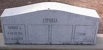 ESPINOSA, ENRIQUE A. - Pinal County, Arizona   ENRIQUE A. ESPINOSA - Arizona Gravestone Photos