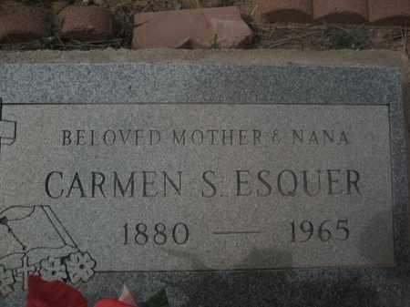 ESQUER, CARMEN S. - Pinal County, Arizona | CARMEN S. ESQUER - Arizona Gravestone Photos