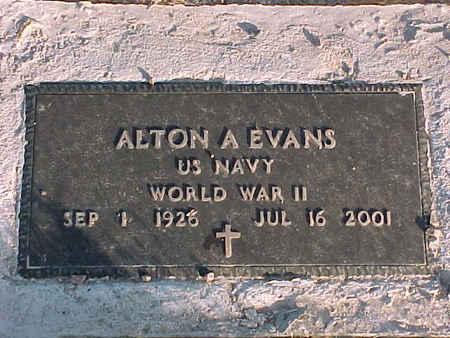EVANS, ALTON A. - Pinal County, Arizona   ALTON A. EVANS - Arizona Gravestone Photos