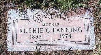 FANNING, RUSHIE C. - Pinal County, Arizona | RUSHIE C. FANNING - Arizona Gravestone Photos