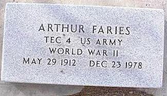 FARIES, ARTHUR - Pinal County, Arizona | ARTHUR FARIES - Arizona Gravestone Photos